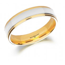 Brown & Newirth Two-Tone Wedding Ring T