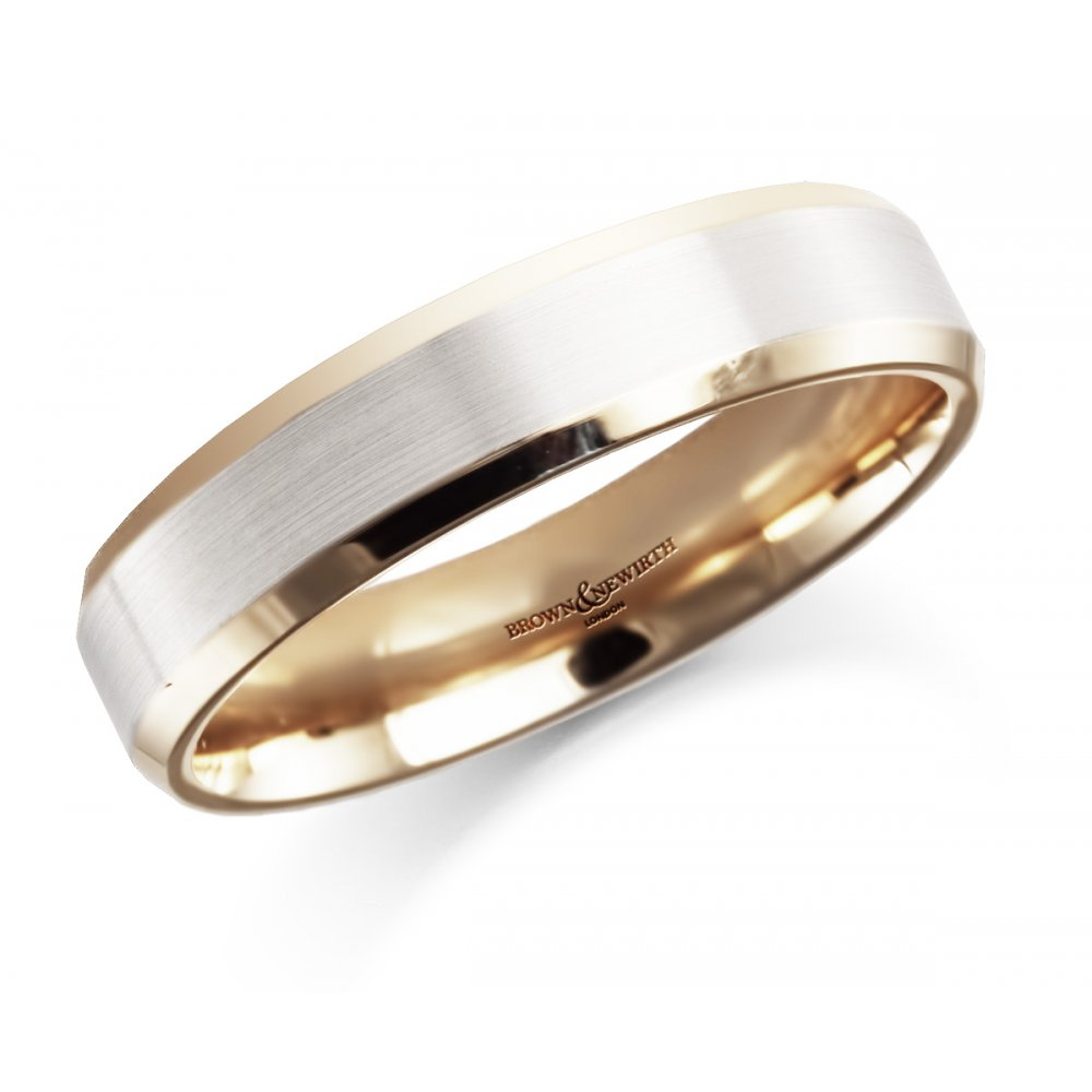Brown Newirth Two Tone Wedding Ring U Jewellery From Sarah
