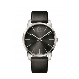 Calvin Klein Black Leather Gents City Watch K2G21107