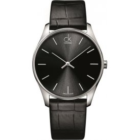 Calvin Klein Black Leather Minimal Gents Watch K4D211C1