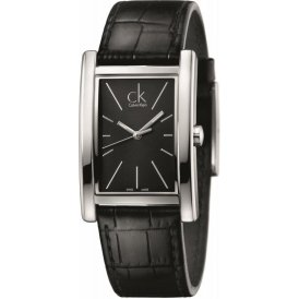 Calvin Klein Black Leather Refine Gents Watch K4P211C1