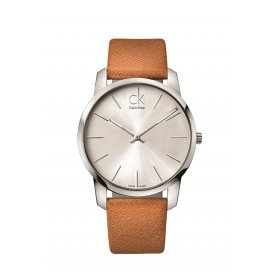 Calvin Klein Brown Leather Gents City Watch K2G21138