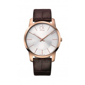 Calvin Klein Brown Leather Gents City Watch K2G21629
