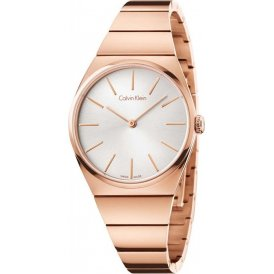Calvin Klein Supreme Rose Gold Ladies Watch ~ K6C2X646