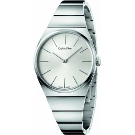 Calvin Klein Supreme Silver Steel Ladies Watch ~ K6C2X146