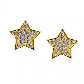 Carat* Chelsea Star Stud Earrings in Yellow Gold Vermeil 13136