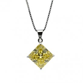Carat* Princess Pendant In Canary Yellow 10945