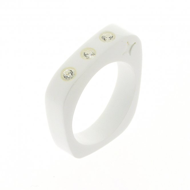Cayoo Thin White Ring CYPR00004M
