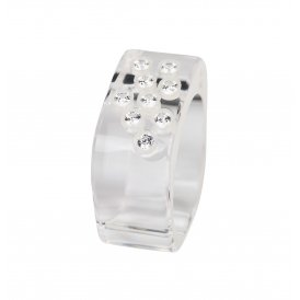 Cayoo White Caviar Ring Large CYCR0001L