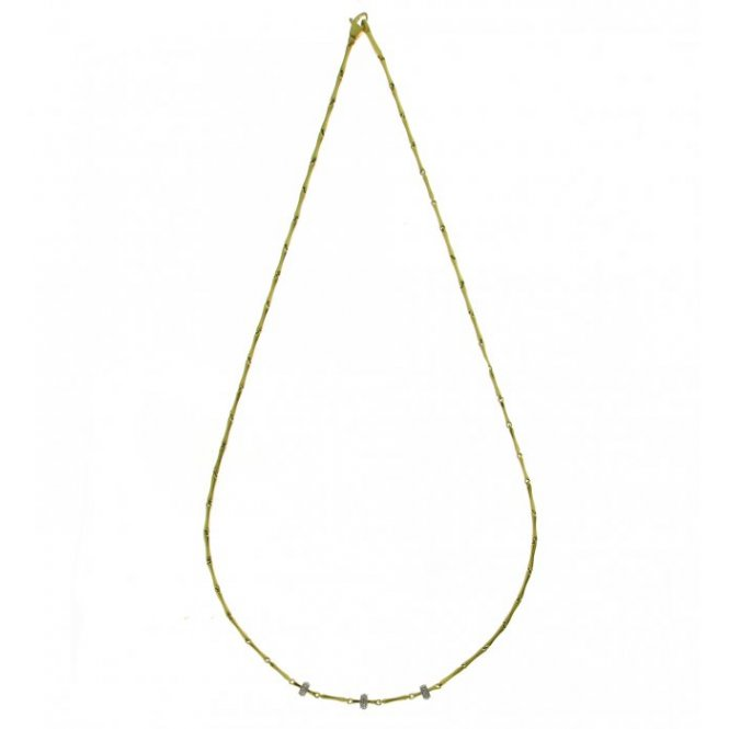 Chimento Bamboo Shine Yellow Gold Necklace 45cm 1G05355B12450
