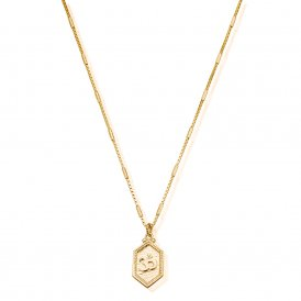 ChloBo Cherabella Tranquil Om Necklace - Gold ~ GNCB759