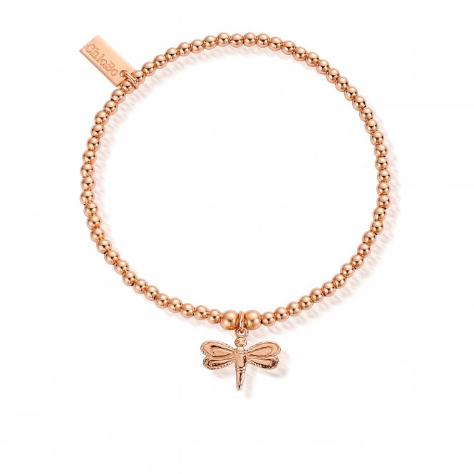 ChloBo Cute Charm Dragonfly Bracelet - Rose Gold ~ RBCC414