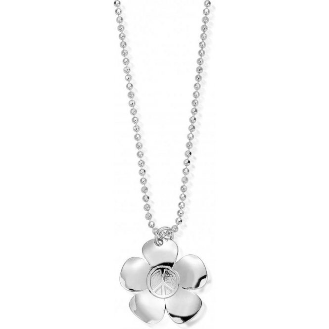ChloBo Diamond Cut Chain with Peace Flower Pendant ~ SCDC05139