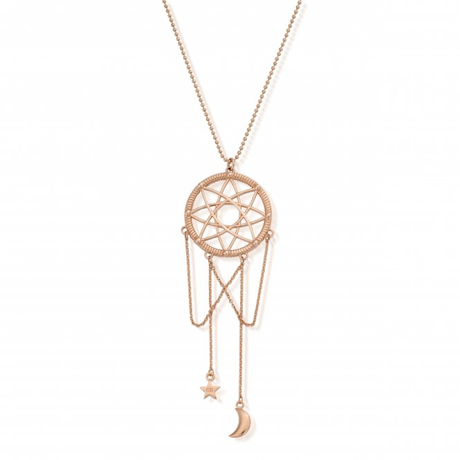 ChloBo Dreamcatcher Necklace Rose Gold ~ RCDC2501