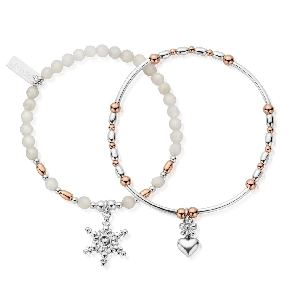 ChloBo Magic of Christmas Set - Silver/Rose Gold ~MBSET743745 ...