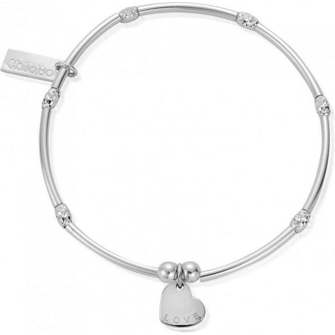 ChloBo Mini Noodle Sparkle Rice Love Heart Bracelet ~ SBMNSR092
