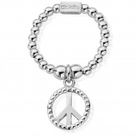 ChloBo Mini Stud Peace Ring ~ SRM2124