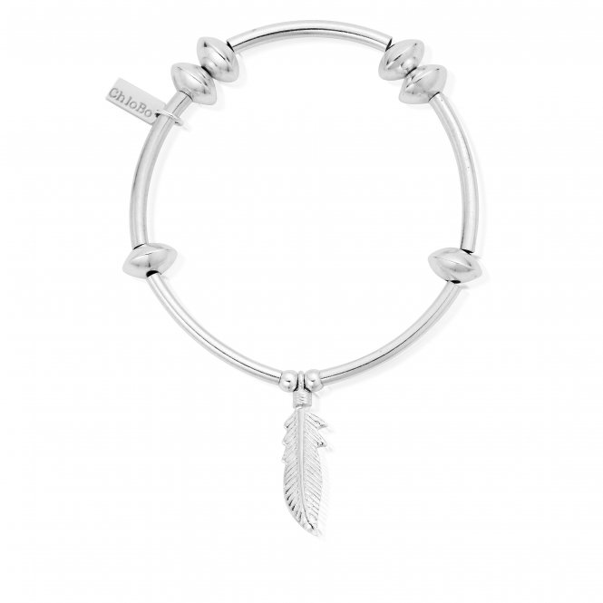 ChloBo Noodle Disc Feather Bracelet ~ SBND706