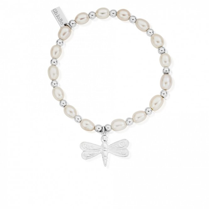 ChloBo Pearl Dragonfly Medium Bracelet