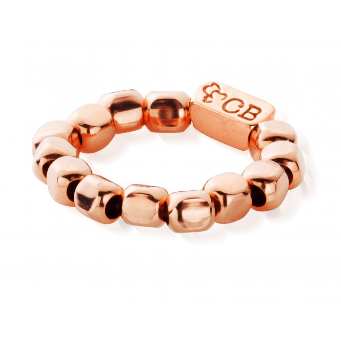 ChloBo Rose Gold Plain Chunk Ring Small