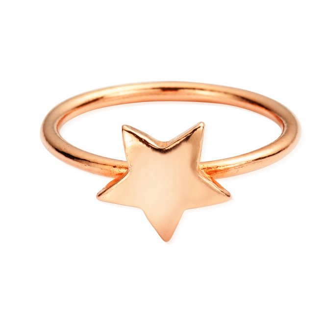 ChloBo Rose Gold Star Ring Medium ~ RRSTAR2288