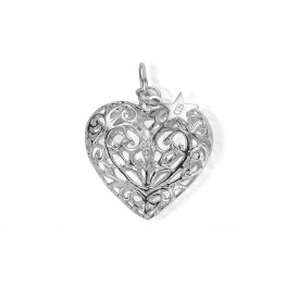 ChloBo Silver Large Filigree Heart Pendant