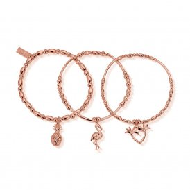 ChloBo Stack of 3 Under The Palms Bracelets ~ RBSTA3UTP