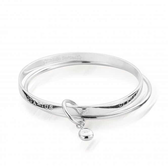 ChloBo Starry Eyes Zodiac Bangle Aquarius