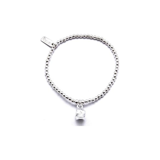 ChloBo Sterling Silver Cute Mini Ball Bracelet Mini Skull CCB3