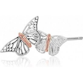 Clogau Butterfly Stud Earrings ~ 3SBWLE01