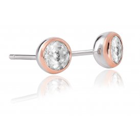 Clogau Celebration White Topaz Stud Earrings ~ 3SEJS1