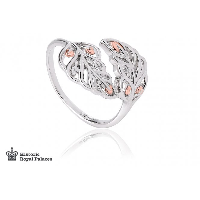 Clogau Debutante Feather Ring ~ 3SDBFR/N