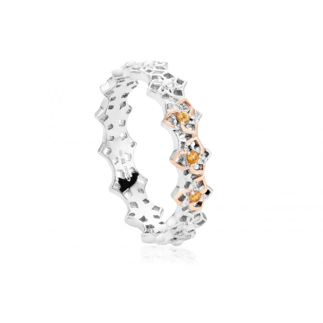 Clogau Eternal Daffodil Stacking Ring ~ 3SCDSR/P