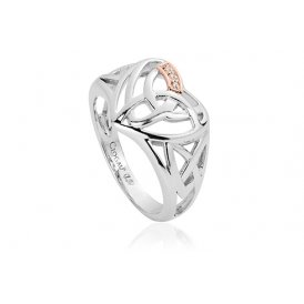 Clogau Eternal Love Diamond Heart Ring ~ 3SELHR/L