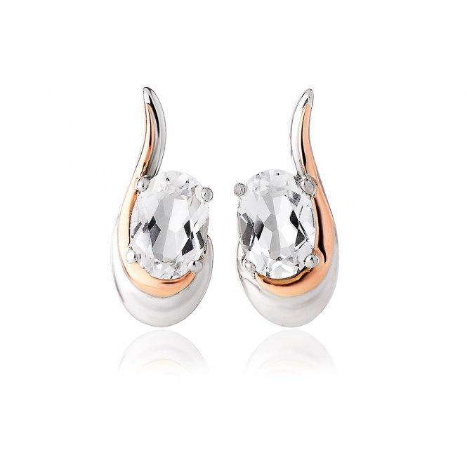 Clogau Serenade White Topaz Earrings ~ 3SEMPE