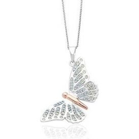Clogau Silver Butterfly Pendant ~ 3SBWRP