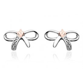 Clogau Tree of Life Bow Stud Earrings