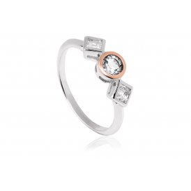 Clogau Welsh Royal Anniversary White Topaz Ring N ~ 3SQAR/N