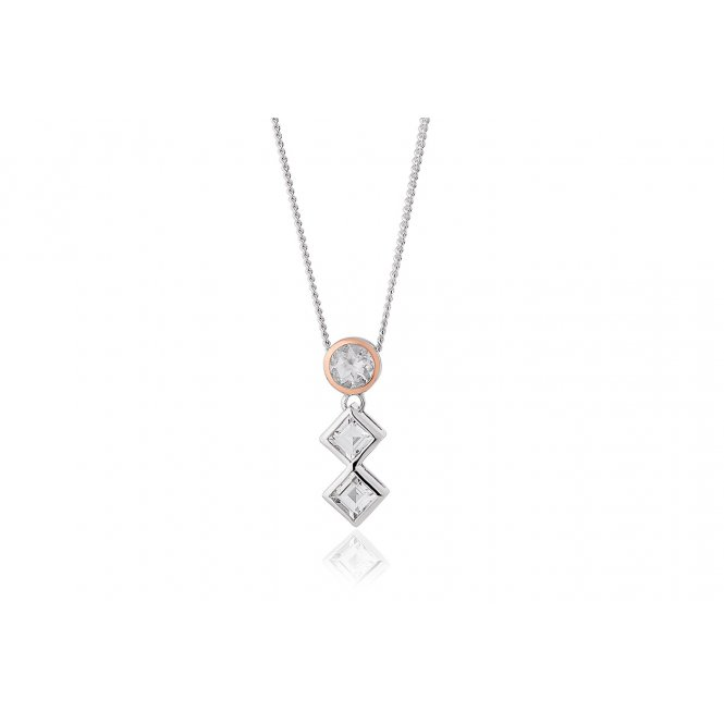Clogau Welsh Royalty Anniversary White Topaz Pendant ~ 3SQAP