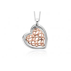 Clogau Welsh Royalty Heart Pendant - Rose Gold ~ 3SWHHP2