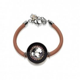 Coeur de Lion 4587 Brown Leather Swarovski Crystal Bracelet