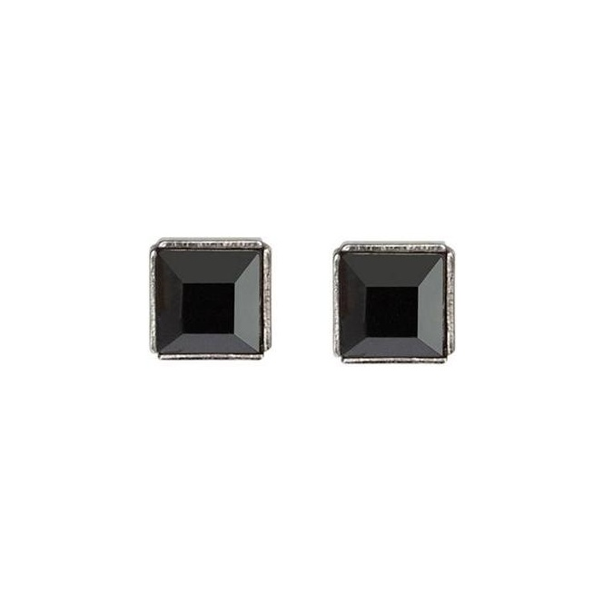 Coeur De Lion Black Haematite Stud Earrings ~ 18C