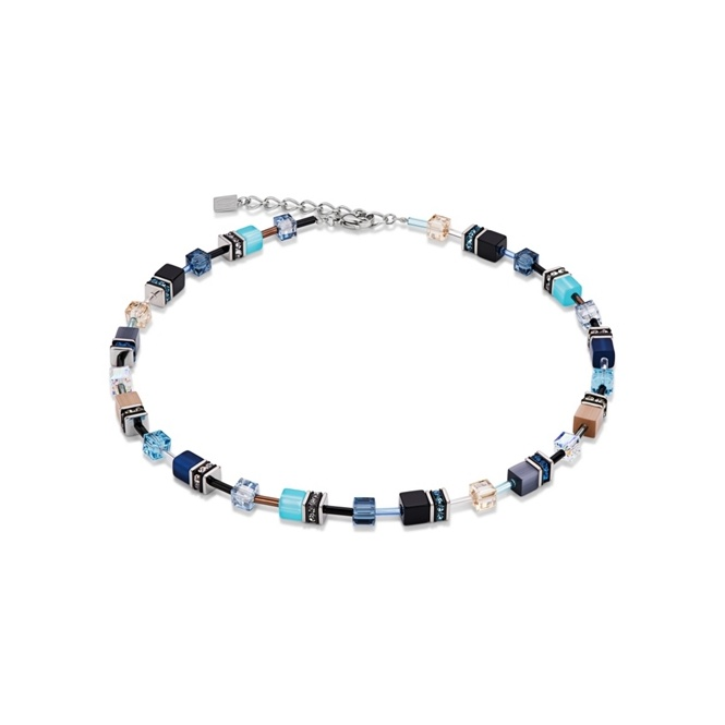 Coeur De Lion Blue-Beige Necklace ~ 2838/10-0710
