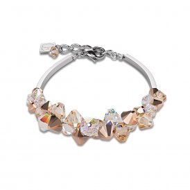 Coeur De Lion GeoCube Bracelet Rose Gold ~ 4884/30-1620