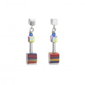 Coeur De Lion GeoCube Earrings Multicolour ~ 4881/21-1500