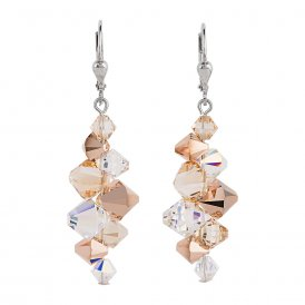 Coeur De Lion GeoCube Earrings Rose Gold ~ 4884/20-1620