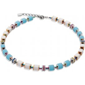 Coeur De Lion Turquoise-White Necklace ~ 4796/10-0614