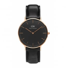 Daniel Wellington Classic Black Sheffield Rose Gents Watch