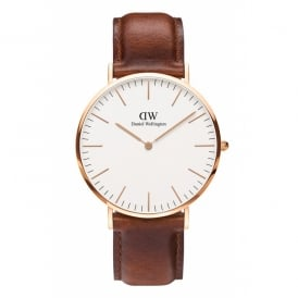 Daniel Wellington Classic St Mawes Rose Gold Gents Watch