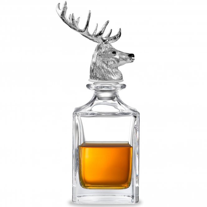 Deakin and Francis Deakin & Francis Stag Head Crystal Decanter ~ G06810001